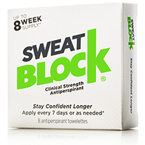 SweatBlock Antiperspirant.